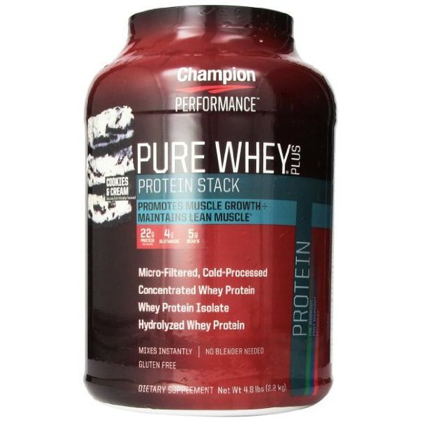 チャンピオンニュートリションピュアホエイプラスプロテインクッキー&クリーム2.2 kg【Champion Nutrition】PureWheyPlusProteinCookies&Cream 4.8lbs supla