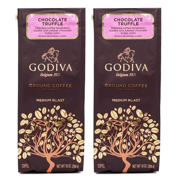 ゴディバチョコレートトリュフコーヒー挽豆284g2個セット Godiva CoffeeChocolateTruffle10oz2
