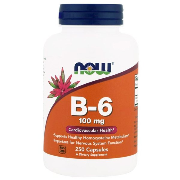 ナウフーズ ビタミン B-6 100mg 250錠 NOW FOODS  Vitamin B-6 100mg 250CAPS supla