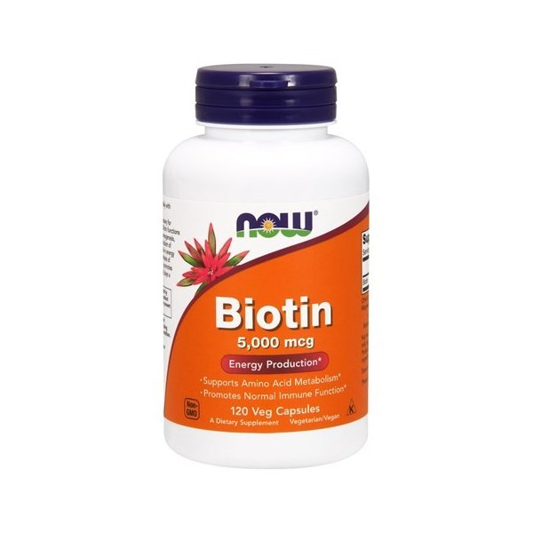 ナウフーズ ビオチン 5000mcg 120錠 NOW FOODS Biotin 5000mcg 120 veg cap supla