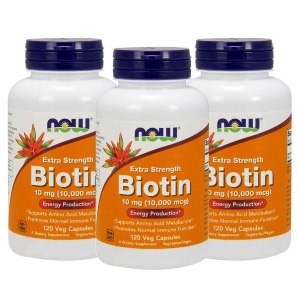 ナウフーズ ビオチン 10mg 120錠 3本セット NOW FOODS Biotin 10mg 120Veg Capsules 3set|supla