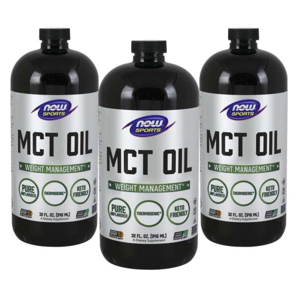 ナウフーズ ピュアMCTオイル、ココナッツ抽出 946ml 3本セット NOW FOODS MCT Oil, Pure 32 fl oz 3set|supla