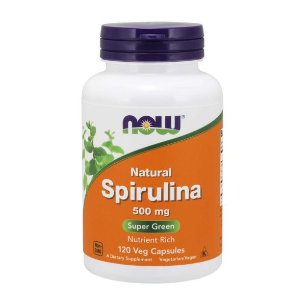 ナウフーズ スピルリナ500 mg 120ベジカプセル【NOW FOODS】Spirulina 500 mg 120 Veg Capsules|supla