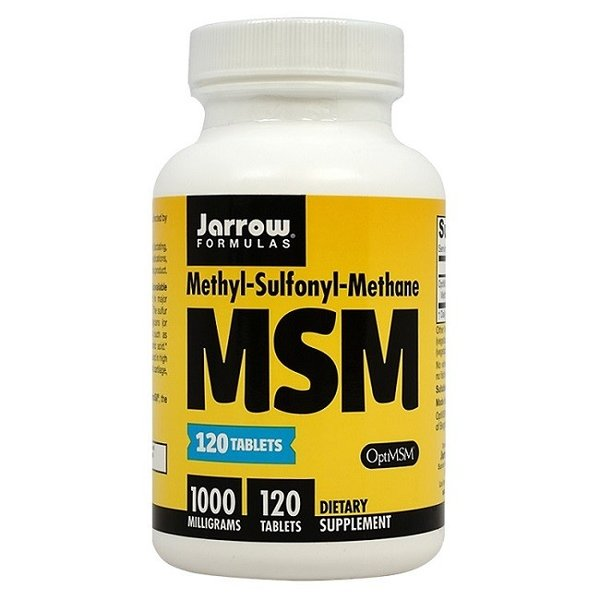 MSM メチルスルホニルメタン 1000 mg 120錠【Jarrow Formulas】MSM Methyl-Sulfonyl-Methane 1,000 mg 120Tablets|supla