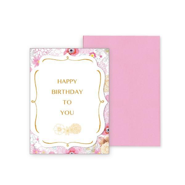 バースデーカード 華 グリーティングカード 誕生日 カード|suplea-store
