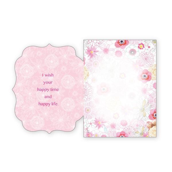 バースデーカード 華 グリーティングカード 誕生日 カード|suplea-store|02