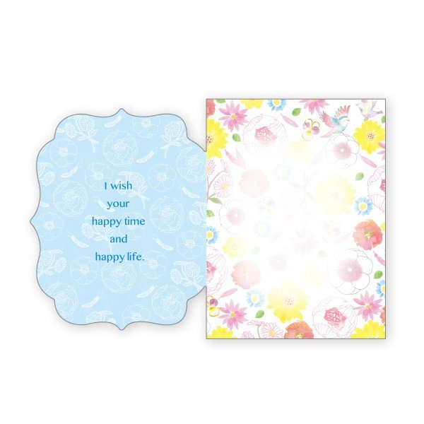 バースデーカード 鳥 グリーティングカード 誕生日 カード|suplea-store|02