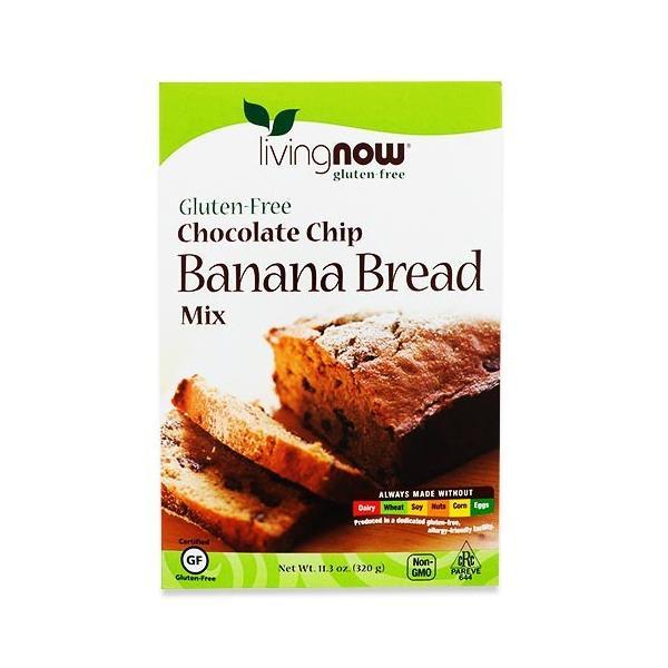 チョコチップバナナブレッドミックス 320g(11.3oz) NOW Foods (ナウフーズ)