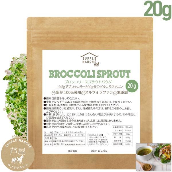 ブロッコリースプラウトパウダー 20g(50回分)150日  スルフォラファン 送料無料 サプリ ダイエット 美容 健康 エイジングケア