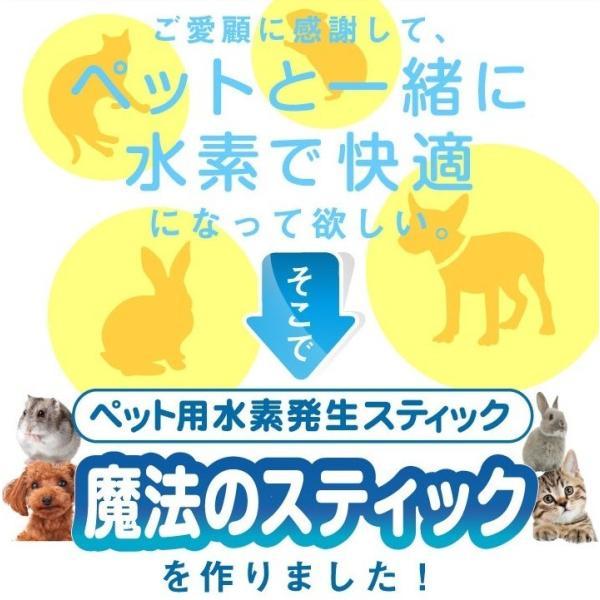 容器がプラに!お得な3本セット 犬猫用水素発生魔法のスティックペット用 水素水 犬 猫 ペット健康 水  supplemarche 03