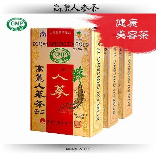 高麗人参茶 (紙箱) 100包 / 韓国 特産品 お茶 / surakkanplus