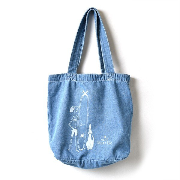 SURF BIARRITZ/DENIM BAG/TOTE/DOG|surfbiarritz-store