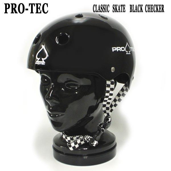 PRO-TEC/プロテック CLASSIC SKATE HELMET BLACK CHECKER スケートヘルメット SKATEBOARDS SK8用 大人用