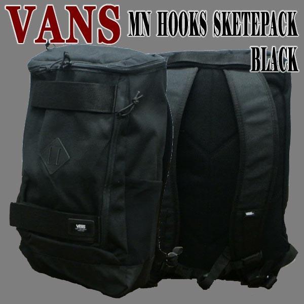 VANS/バンズ ヴァンズ HOOKS SKATEPACK BLACK BACKPACK 鞄 リュック バックパック