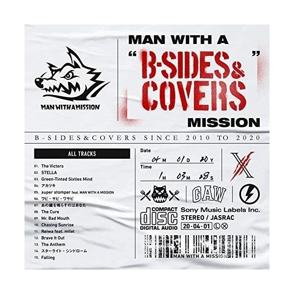 """CD/MAN WITH A MISSION/MAN WITH A """"B-SIDES&COVERS"""" MISSION"""