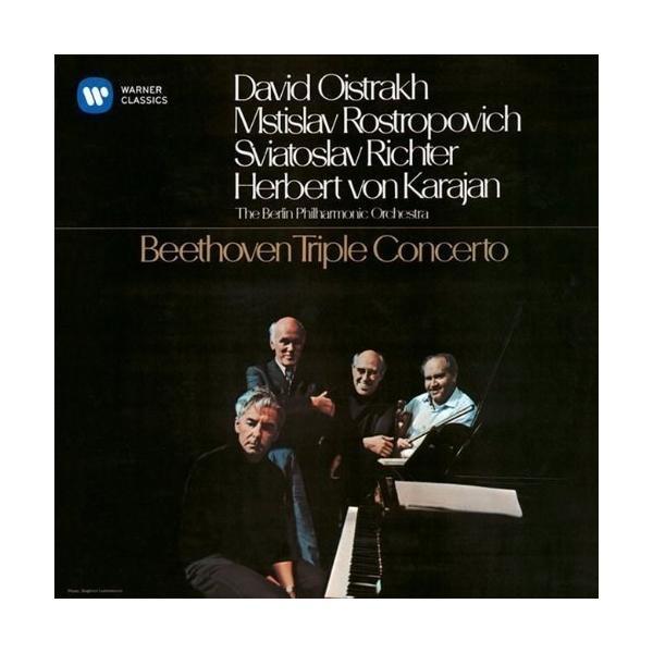 CD/オイストラフ ロストロポーヴィチ リヒテル カラヤン/ベートーヴェン:ピアノ、ヴァイオリンとチェロのための三重協奏曲