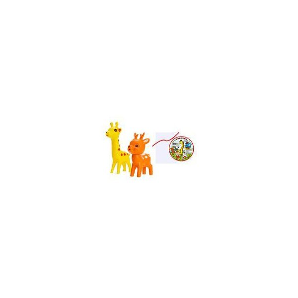 中古トレーディングフィギュア6.五型動物B(キリン・シカ・袋)「なかよしチャーミーちゃんBOX版」