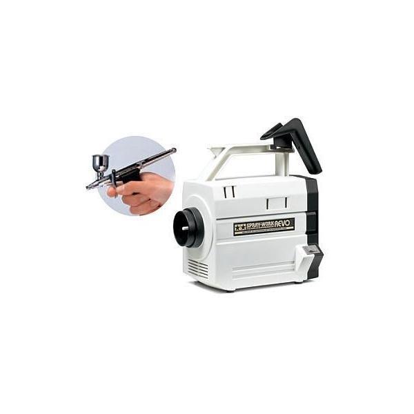新品塗料・工具 スプレーワーク HGコンプレッサー レボII(HGトリガーエアブラシ付き) 「エアーブラシシステム N