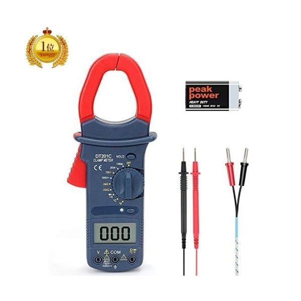 クランプメーターデジタルテスターオートレンジテスター電気テスター電圧電流周波数