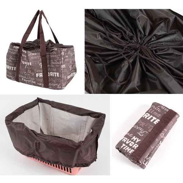 エコバッグ レジカゴバッグ 折りたたみ コンパクト 容量23L (エコバック 折り畳み 買い物袋 買い物バッグ かごバッグ) suteteko 02