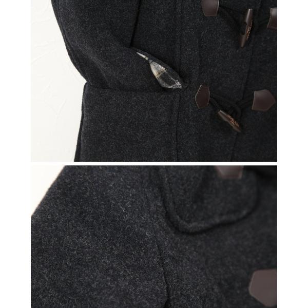 MICHEL KLEIN ダッフルコート(Wフェイス) S〜L (MICHELKLEIN フード付き ダッフルコート 通学 通勤 防寒着 カンコー学生服) (送料無料) (在庫限り)|suteteko|05