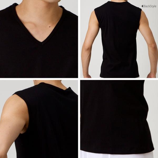 グンゼ YG ランニング 綿100% メンズ 肌着 ランニング シャツ Vネック M〜3L (下着 Tシャツ ノースリーブ コットン インナー V首 アンダーウェア) suteteko 03