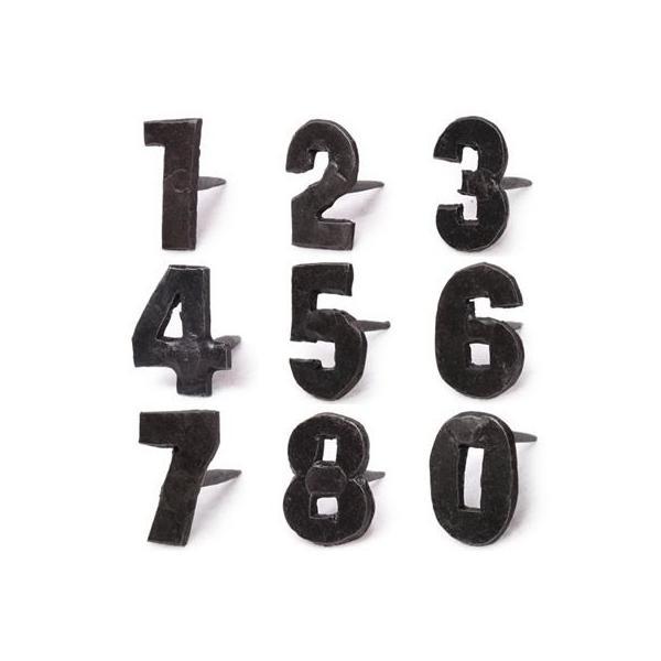 アイアン 釘 数字 ネイル 飾り釘 ドアスタッド アイアンナンバーネイル