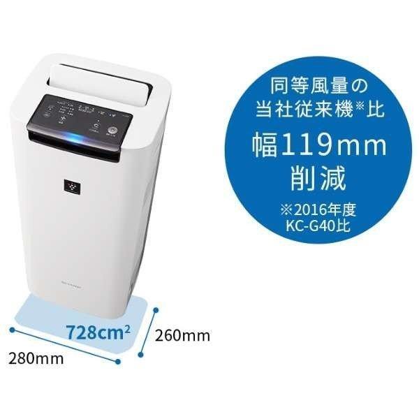 シャープ 空気清浄機 プラズマクラスター KI-JS40-W ホワイト系 加湿機能付 suzu-onlineshop 06