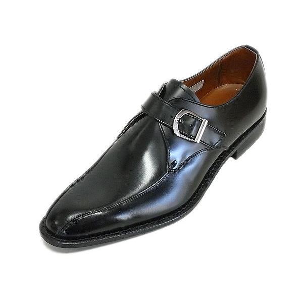 ケンフォード メンズ ビジネスシューズ KENFORD KB49 AJ BLK ブラック モンクストラップ リーガル 紳士靴|suzuchu-footwear