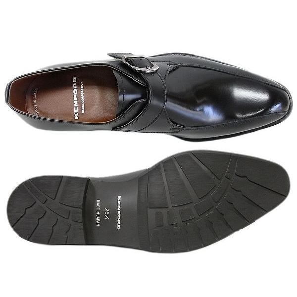 ケンフォード メンズ ビジネスシューズ KENFORD KB49 AJ BLK ブラック モンクストラップ リーガル 紳士靴|suzuchu-footwear|03