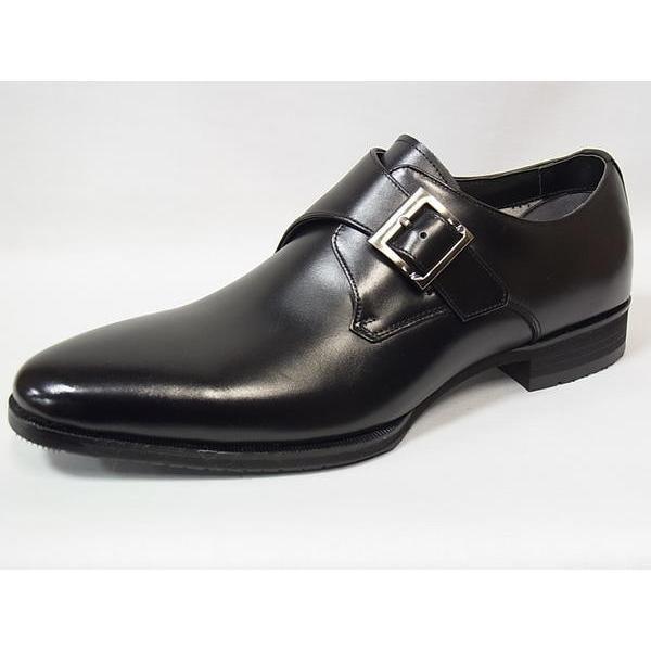 マドラス 正規品 モデロ モンクストラップ madras MODELLO DM8003 BLK ブラック メンズ ビジネスシューズ 防水 紳士靴|suzuchu-footwear