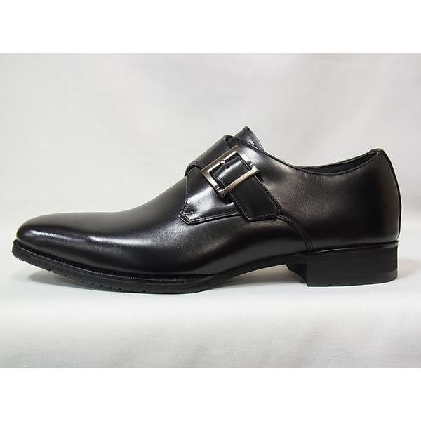 マドラス 正規品 モデロ モンクストラップ madras MODELLO DM8003 BLK ブラック メンズ ビジネスシューズ 防水 紳士靴|suzuchu-footwear|02