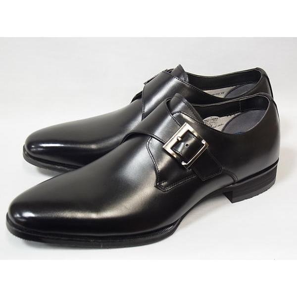 マドラス 正規品 モデロ モンクストラップ madras MODELLO DM8003 BLK ブラック メンズ ビジネスシューズ 防水 紳士靴|suzuchu-footwear|04