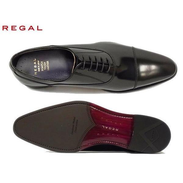 リーガル 正規品 ストレートチップ REGAL 25AR BE BLK ブラック メンズ ビジネス 人気 紳士靴|suzuchu-footwear|03