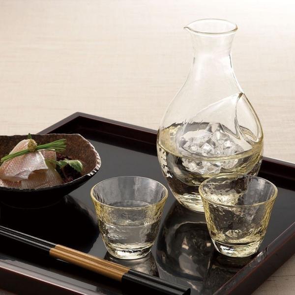 とっくりとおちょこ 高瀬川 琥珀 冷酒セット 酒グラスコレクション suzuhiro-2 03