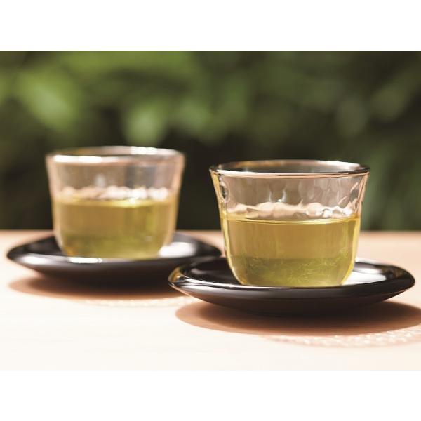 コップ 切子 冷茶ぐらす おもだか柄  3個入り 絵ごよみ185ml |suzuhiro-2|02