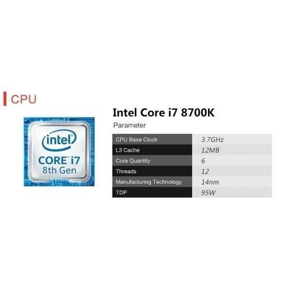 ゲーミングPCデスクトップ Core i7-8700K/ターボ4.7Ghz/ メモリ8GB/SSD 240GB/COLORFUL 1060 6G GAMING V5/500W/GETWORTH/win10homeEnglish|suzukazemarket|03