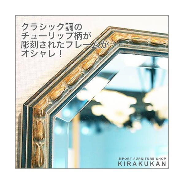 輸入雑貨 イタリア製八角ミラー 鏡|suzukikagu|02