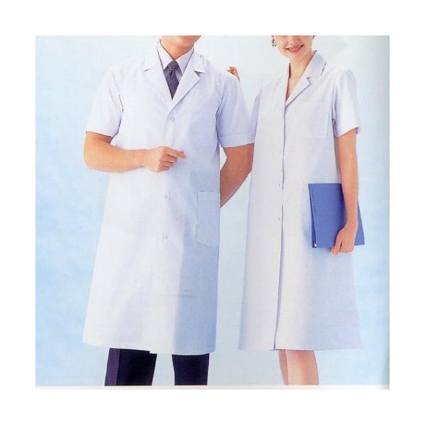 ドクターコート 白衣 女性 半袖 夏場 快適 診察衣|suzukiseni