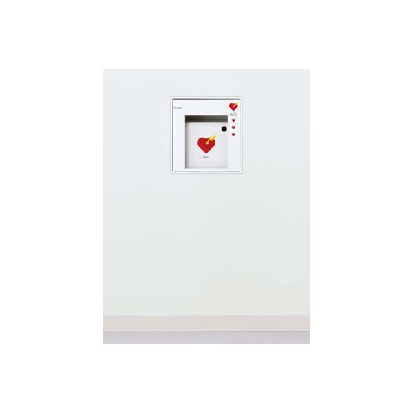 AED収納ボックス UAB-103-PWH 【埋込式タイプ】 警報ベル無し|suzumori