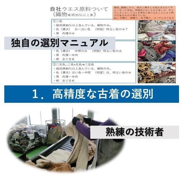 シーツウエス お試しパック 白 綿布 リサイクル  仕上げ拭き 使い捨てぞうきん |suzuroku-uesu|07