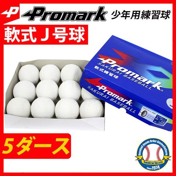 あすつく プロマーク 軟式ボール J号球 少年野球 J号 小学生向け 練習球 5ダース セット (1ダース 12個) LB-312J 少年野球 ダース買