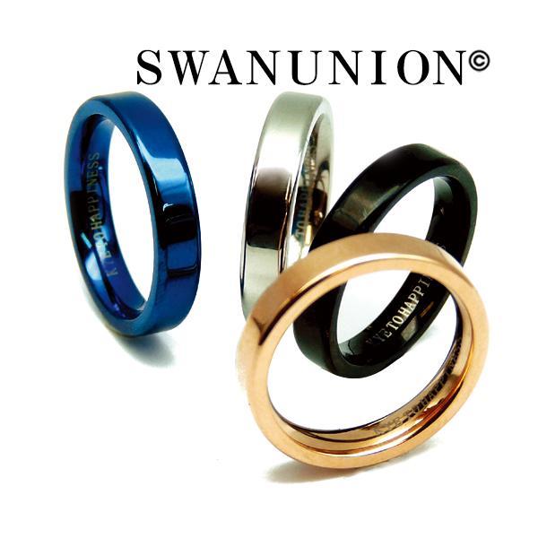 ステンレスリング 指輪 メンズ ステンレス リング シンプル 刻印 人気 ペア ピンキーリング ブルー シルバー ブラック ピンクゴールド 銀 黒 金 青 おしゃれ