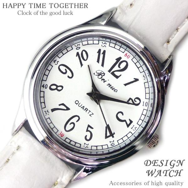 腕時計 時計 レディース 安い 人気 おしゃれ ブランド 格安 カジュアル 革ベルト スポーツ ホワイト白 tvs311