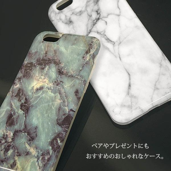 大理石 iphoneケース iphone XsMax XR Xs 8 7 6s plus マーブルストーン ソフト おしゃれ シリコン カバー アイフォン10s 天然石 イニシャル ペア ポスト便OK|swasuwa|02