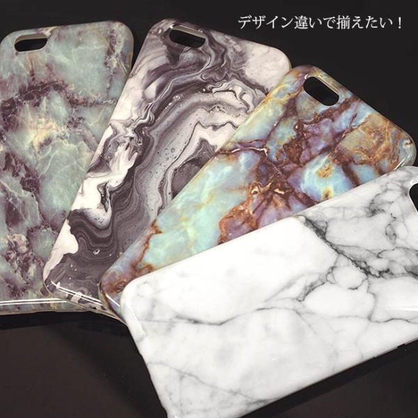 大理石 iphoneケース iphone XsMax XR Xs 8 7 6s plus マーブルストーン ソフト おしゃれ シリコン カバー アイフォン10s 天然石 イニシャル ペア ポスト便OK|swasuwa|08