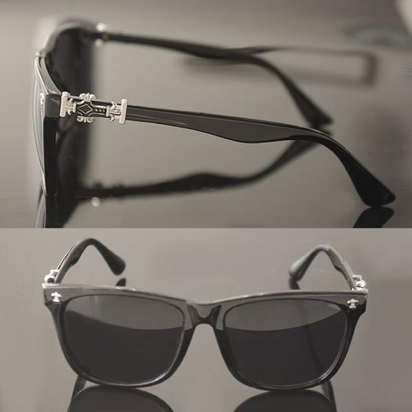 サングラス メンズ レディース uvカット クロス 百合の紋章 ブラック クロム おしゃれ UV400 紫外線カット ブランド UV対策  プレゼント swasuwa 03