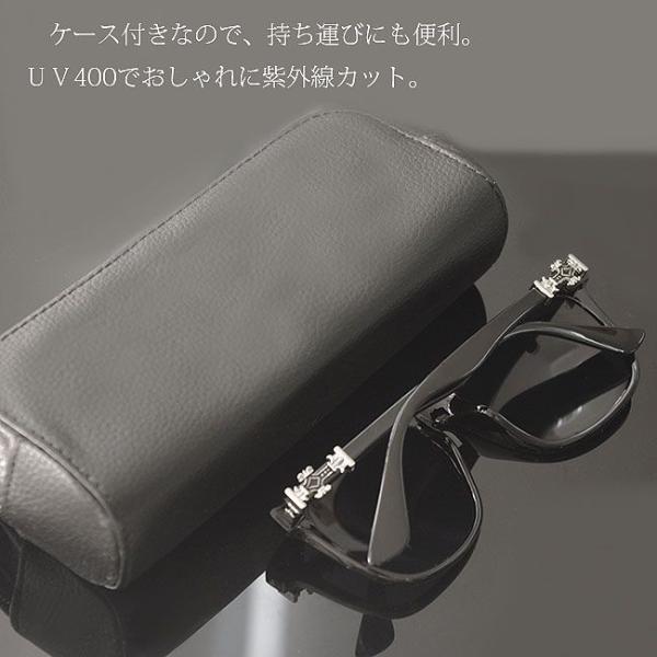サングラス メンズ レディース uvカット クロス 百合の紋章 ブラック クロム おしゃれ UV400 紫外線カット ブランド UV対策  プレゼント swasuwa 05