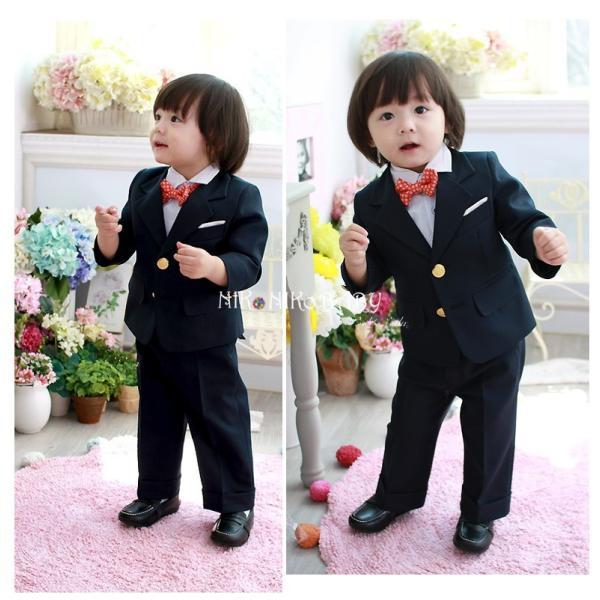 3e66a5eeb8a36 子供スーツ 七五三 結婚式 男の子 フォーマル スーツ 4点セット ジャケット 長ズボン ...