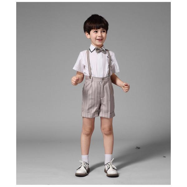2fdb3795f7f42 ... 韓国 男の子フォーマル 結婚式 タキシード ベビー スーツ ピアノ発表会 4点セット 半 ...